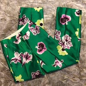 J. Crew Silk Wool Punk Floral Trouser NWT